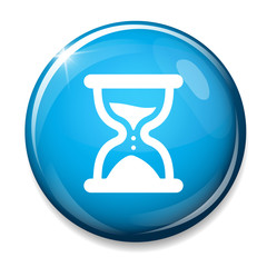 Hourglass sign icon. Sand time button