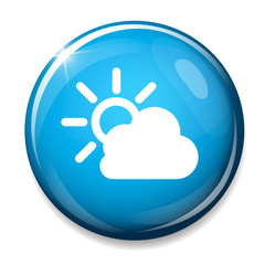 Cloud /  sun  icon. Weather symbol