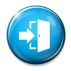 Door sign icon. Enter symbol.