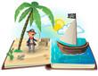 Obrazy na płótnie, fototapety, zdjęcia, fotoobrazy drukowane : Book about pirates