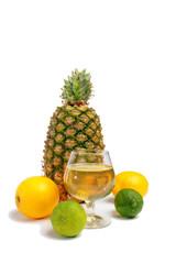 pineapple lemon and lime with a nice fruit juice