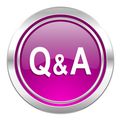 question answer violet icon