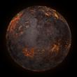 volcano planet background