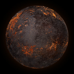 volcano planet background