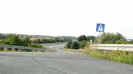 Autobahnauffahrt