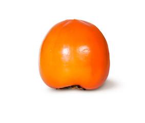Single Fresh Ripe Orange Persimmon