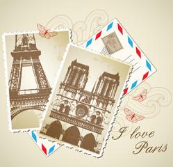 Vintage photos of Paris