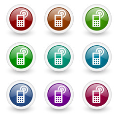 phone web icons vector set