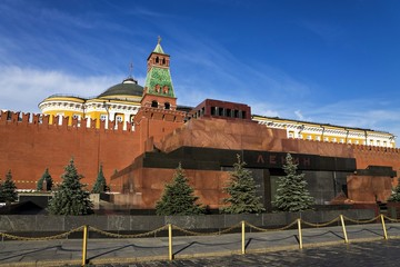 Lenin's Mausoleum on Red Square in Moscow