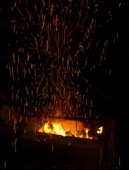 fire with sparks