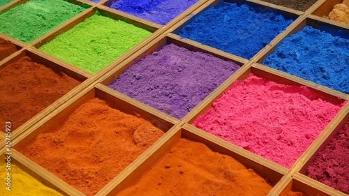 canvas print picture Colorful pigments