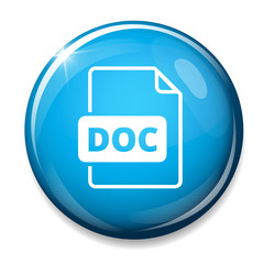 Download doc button. Doc file symbol.