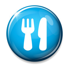Eat sign icon. Fork and knife.