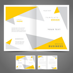 brochure design template booklet triangles