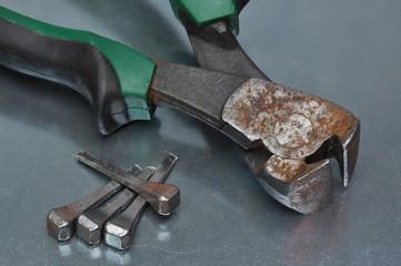 Old rusty pliers
