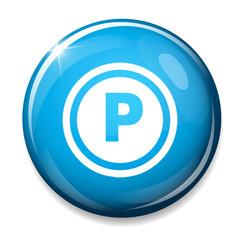 parking sign icon. Car parking symbol.