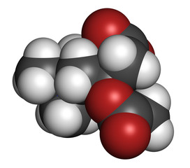 Acetylcarnitine (ALCAR) nutritional supplement molecule.