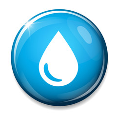 Water drop icon. Tear symbol.