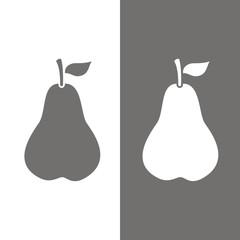 Icono pera BN