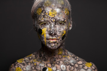 Snake woman. Abstract female portrait