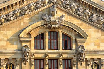 París, Francia, detalle del Palacio de la Ópera Garnier,