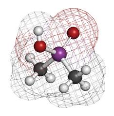 Cacodylic acid herbicide molecule (Agent Blue).