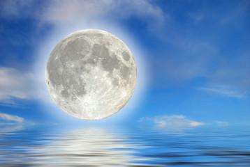 Luna sull'acqua
