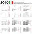 Calendario 2016 ITA mensile festività+settimane+lune