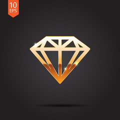 Vector gold icon