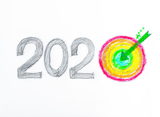 Conceptual image of Year 2020, energy efficiency rating concept