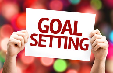 Goal Setting card with colorful background