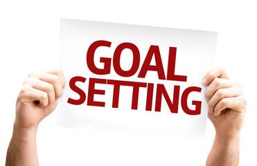 Goal Setting card isolated on white background