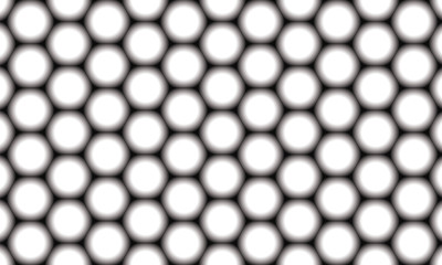 pattern of hexagons