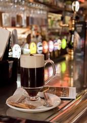 Irish coffee in Dublin pub