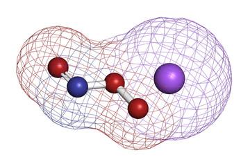 Peroxynitrite (sodium) reactive nitrogen species molecule.