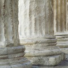 Base of Roman columns, Nimes, France