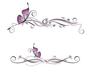 Декор с бабочкой