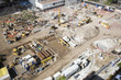 Aerial View of Construction Site with Extreme Bokeh. - 75720355
