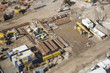 Aerial View of Construction Site with Extreme Bokeh. - 75720358