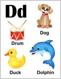 Fototapety Alphabet letter D pictures