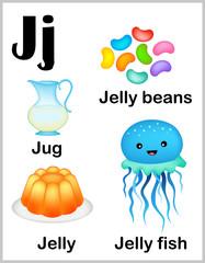 Alphabet letter J pictures
