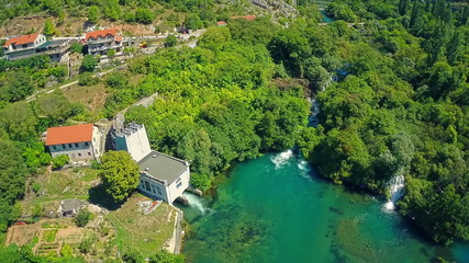 Roski Slap Hydroelectric Power Plant, aerial shot