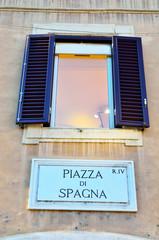 window on piazza di spagna, Rome Italy