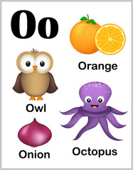 Alphabet letter O pictures