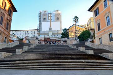 """staircase """"trinità dei monti"""" being restored, rome Italy"""