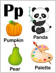 Alphabet letter P pictures