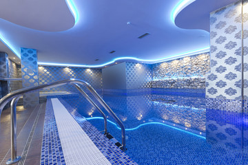 Interior of a luxury spa center