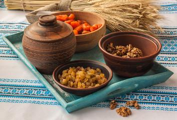 Cooking  kutya is a traditional food on Christmas Eve.