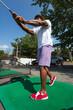 Golf Swing at the Range