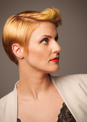 Sleek hairstyle for the corporate woman